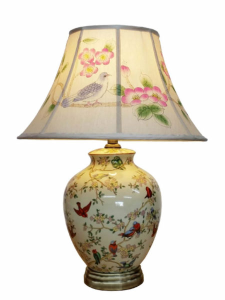 Fuyang Porcelain Lamp With Painted Shade