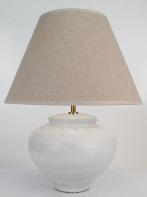 Isaan Pottery Table Lamp In Stone