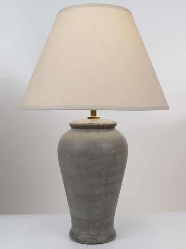 Hoi An Pottery Table Lamp In Taupe