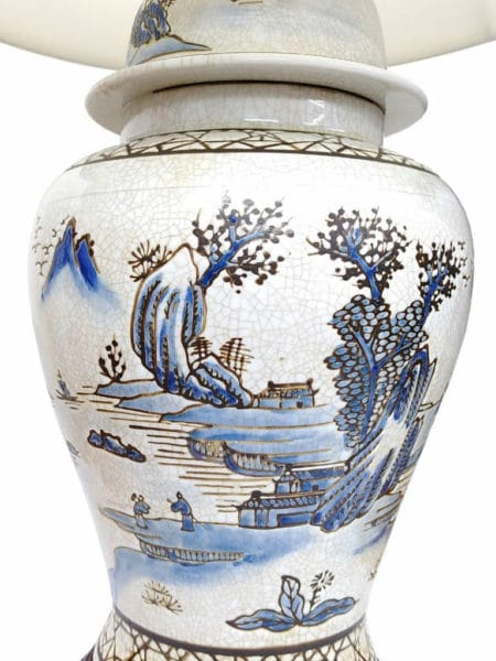 The Geyuan Chinese Porcelain Table Lamp