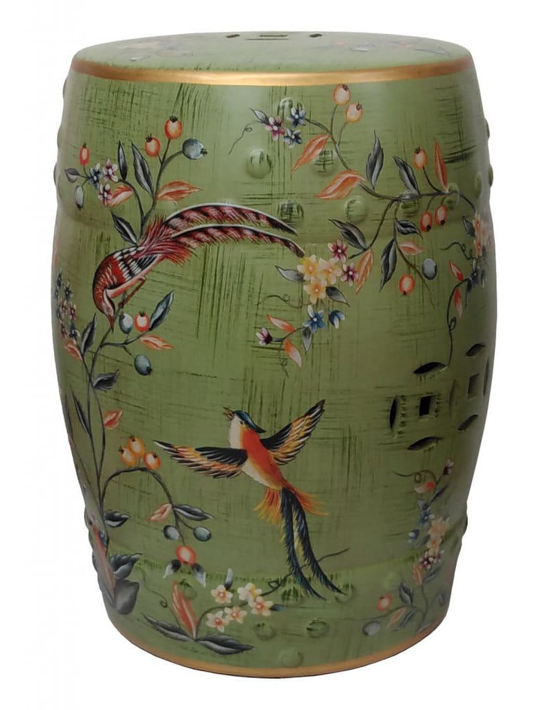Chinese Porcelain Stool – Birds And Flowers Theme